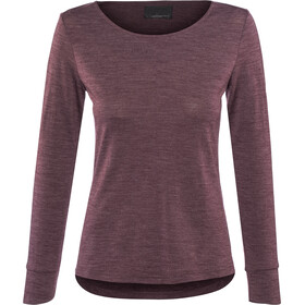 Alchemy Equipment Merino Essential Maglia a maniche lunghe Donna, wine marle
